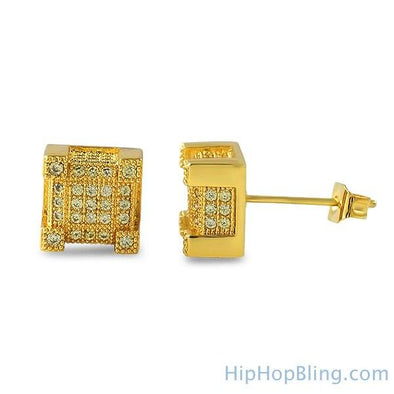 Bling Bling Cube Lemonade CZ Earrings