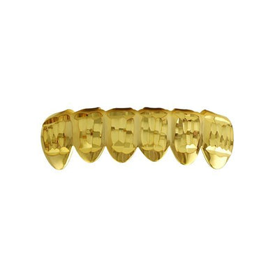 Classic Gold Grillz Diamond Cut Bottom