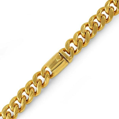 Gold Miami Cuban 316L Bracelet 15MM Box Clasp