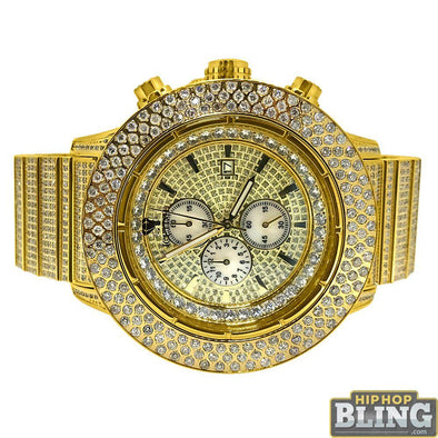 13.00 Carat Diamond IceTime Crown II Gold Watch