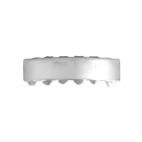 Hip Hop Grillz Bar Rhodium Bottom