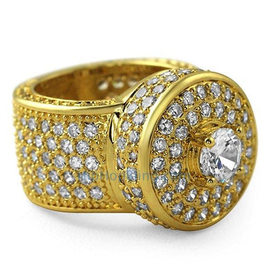 Gold Bling Bling Cluster Iced Out Ring
