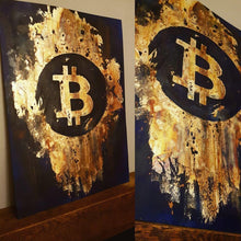 Burnt Gold Leaf Bitcoin by Terry Cook