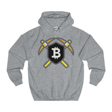Bitcoin Pick & Shield College Hoodie