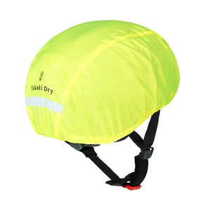 High-visibility water resistant helmet cover