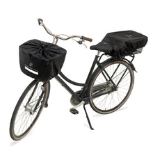 Water resistant bicycle basket cover