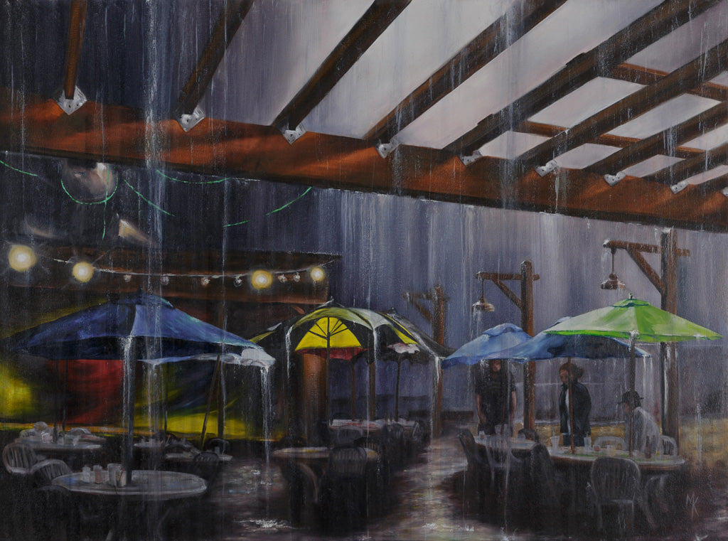Downpour at Spikes, Print