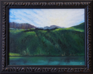Early at Lower Blue Lake, Original Oil Painting