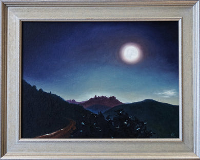 Supermoon Over Uncompahgre, Original Oil Painting