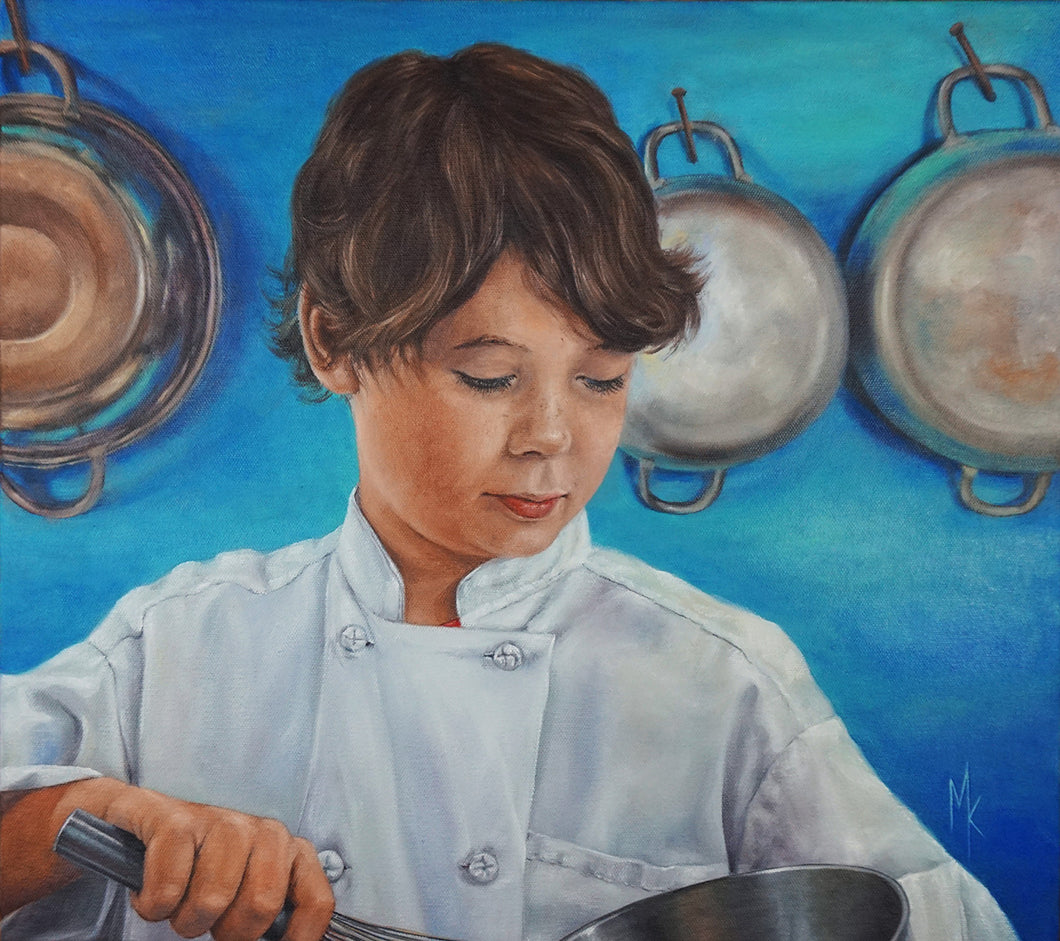 Tomorrow's Chef. Original Painting
