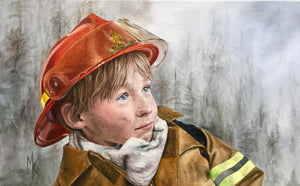 Tomorrow's Wildland Firerfighter (Hotshot) - Print.