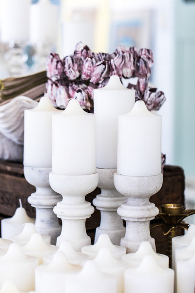 One Wick White Church Candle