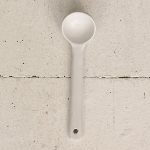 Small Ceramic Spoon - White