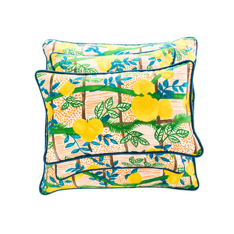 Custom Lemon Print Cushion