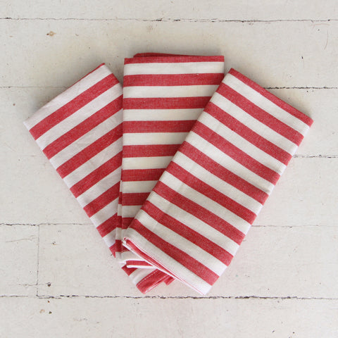 Red Stripe Tea Towel