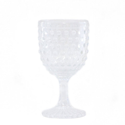 Hobnail Wine Glass