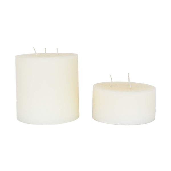 Three Wick White Church Candle
