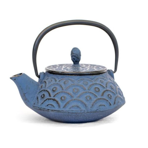 Blue Fish Scale Teapot