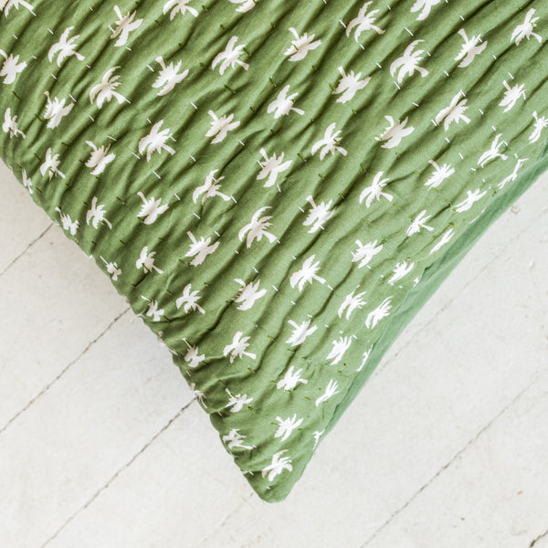 Green Palm Cushion