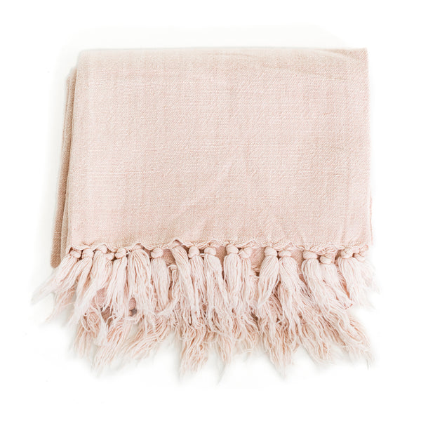 Linen and Cotton Throw