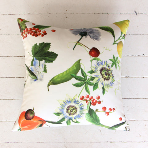 Garden Party + Green Stripe Custom Cushion