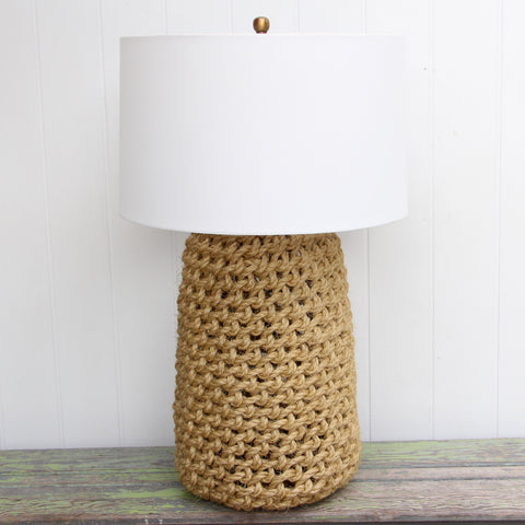 Knotted Rope Lamp with Shade