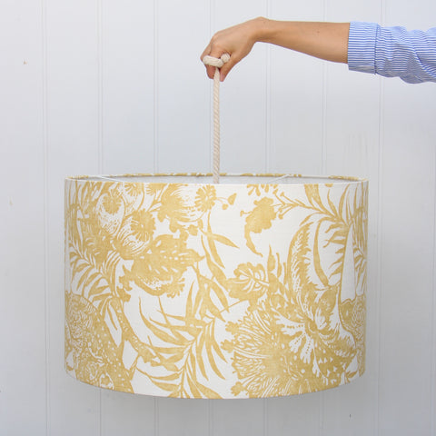 Custom Ochre Floral Shade
