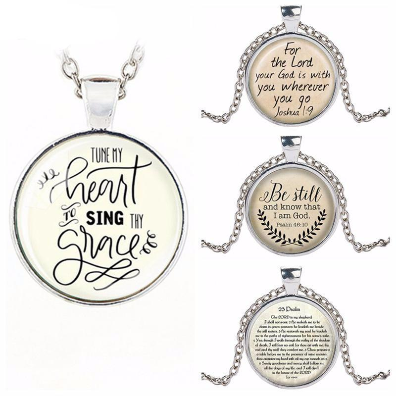 Tune My Heart to Heart Sing Scripture Necklace