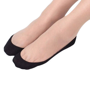 Women Cotton Lace Antiskid Invisible Liner Low Cut Socks