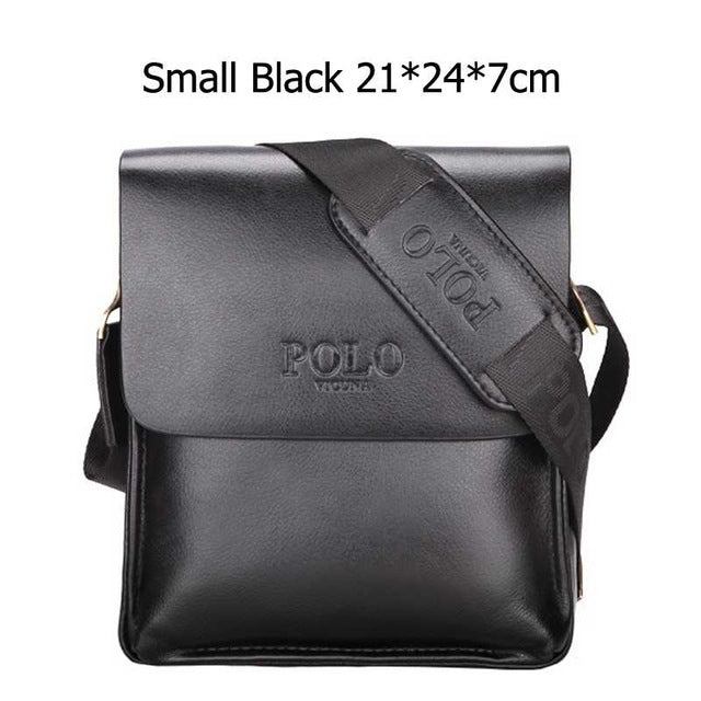 Leather Casual Business Messenger Vintage Men's Crossbody POLO Bag