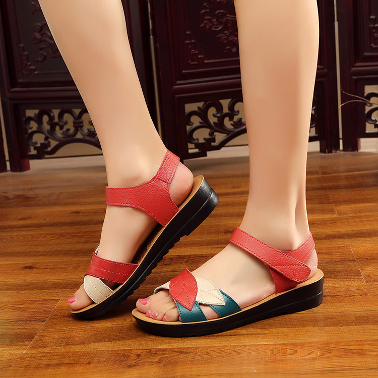 Soft bottom anti-skid fashion flat comfortable women's shoes