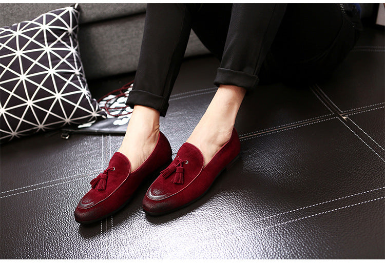 Suede Leather Loafers Moccasins Low Slip On Flats Shoes