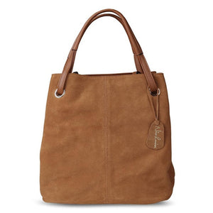 Women Real Split Suede Leather Large Top-handle Bags
