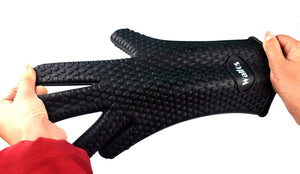 Heat Resistant thick Silicon Kitchen barbecue oven Cooking glove BBQ Grill Glove