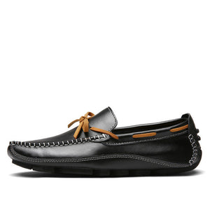 Leather Flat Loafers Moccasin Slip On