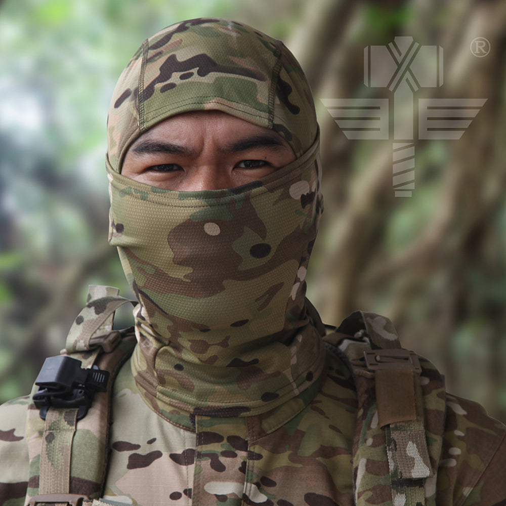 18 Style Multicam Camouflage CP Tight Balaclava Tactical Military Army Paintball Helmet Liner / Full Face Mask