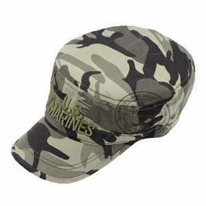 Marines Corps Cap USMC Camouflage flat top cotton Embroidered hats