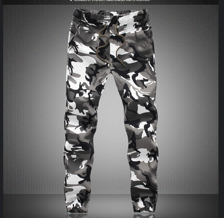 Military Pencil Harem Camouflage Pants Loose Comfortable Cargo Joggers