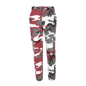 High Waist Demin Camouflage Pants Jean Trousers Pencil Military