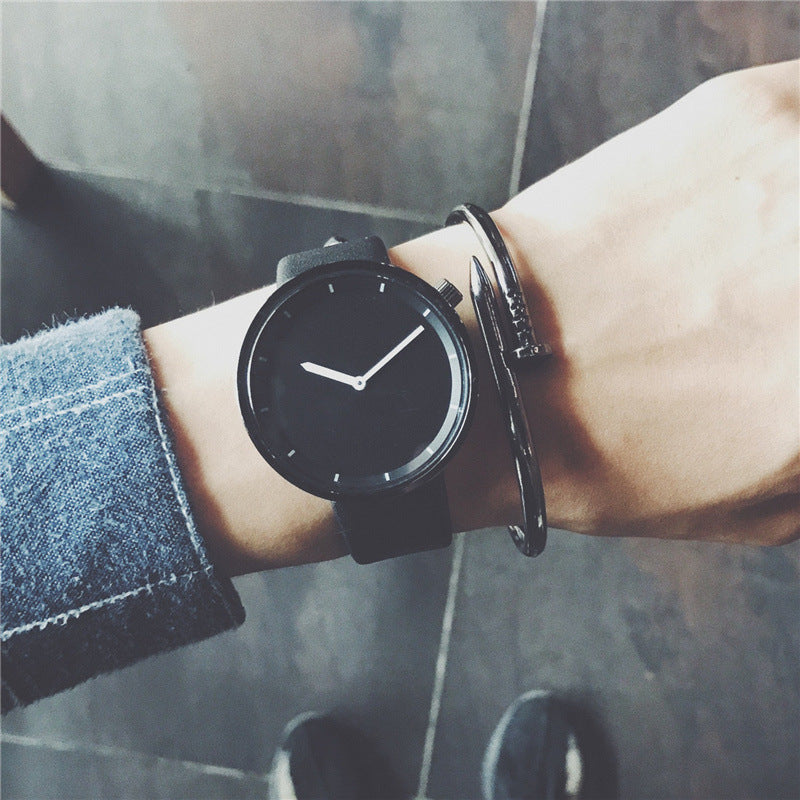 Minimalist stylish quartz watches black clock