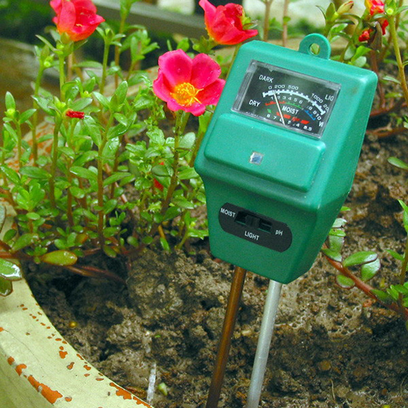 3 in 1 Soil Moisture Sunlight PH Meter Tester Plant Flowers Soil Digital Analyzers Tester For Garden Hydroponics Agriculture