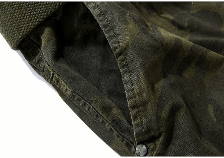 Military Camouflage Loose Cargo Cool Summer Military Camo Pants Shorts No belt