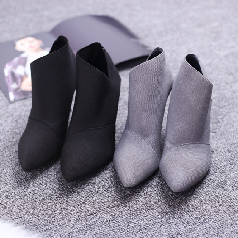 Pointed Toe High Heels Women Fitted Outwear Shoe
