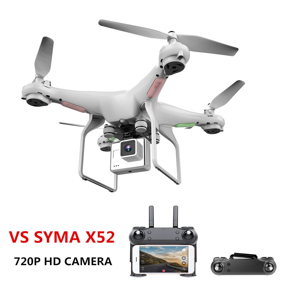 Drone With Camera 720P HD 0.3W White Hover Helicopter VS SYMA X52 Dron RC Drone