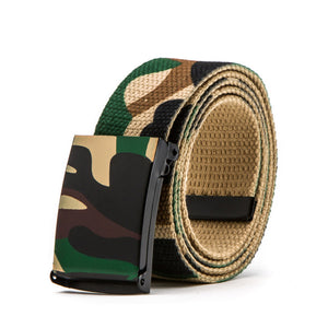 Military Camouflage belts Male and female couple Canvas belt
