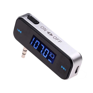 3.5mm Music Audio FM Transmitter Mini Wireless In-car Transmitter For iPhone 4 5 6 6S Plus Samsung iPad