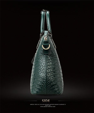Crocodile Bag 100% Genuine Leather Women Handbag