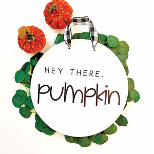 Hello Pumpkin - Door Sign