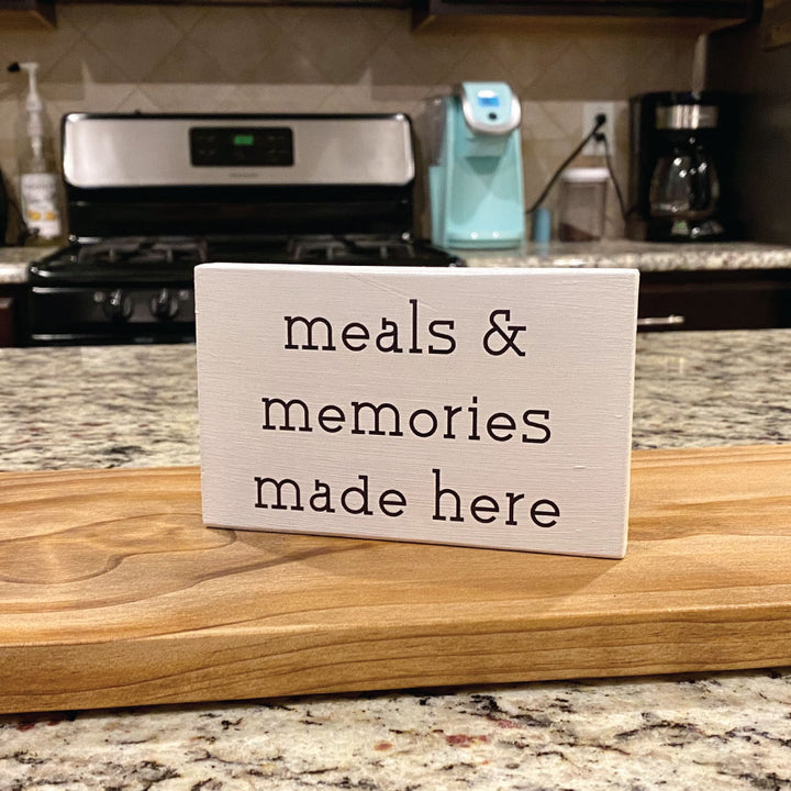 Meals and Memories Sign