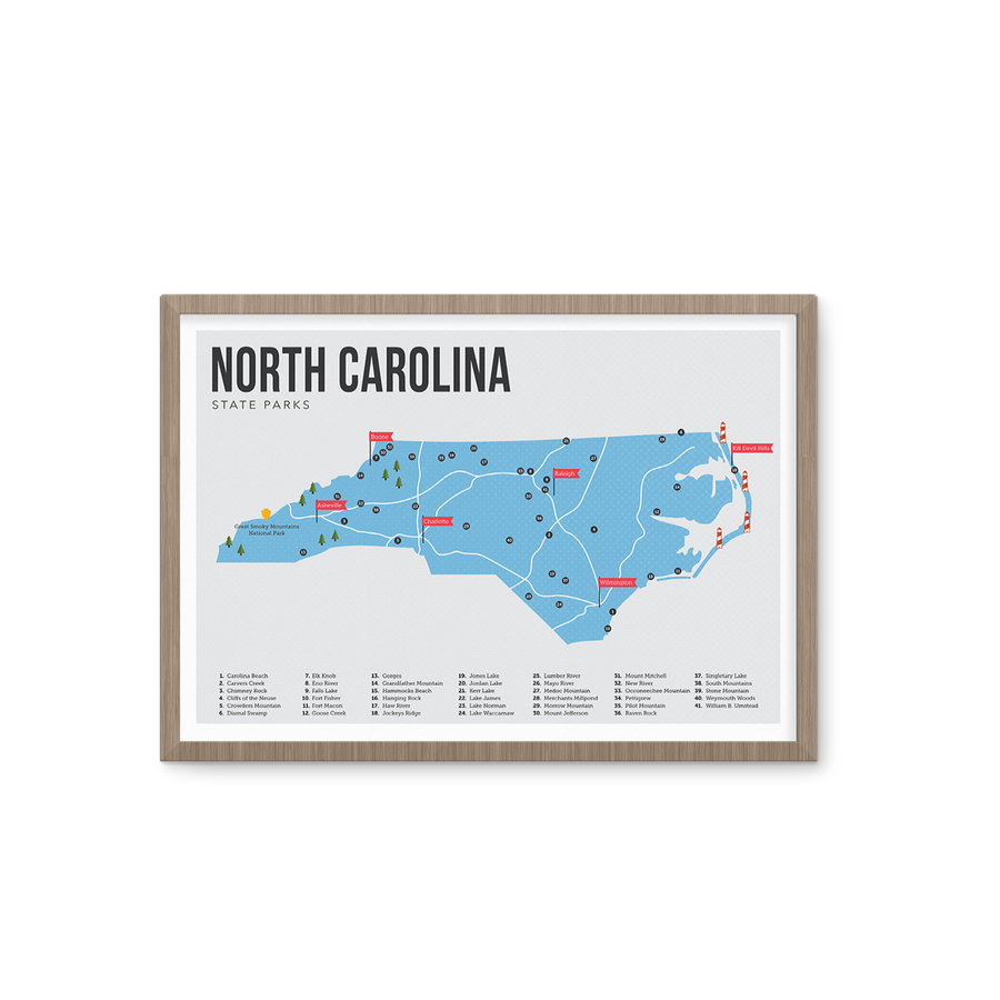 North Carolina State Park Map